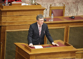 László Andor at the Hellenic Parliament - 04/03/2011 - Visit to Greece