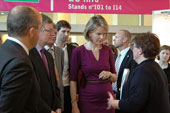 Princess Mathilde and Commissioner Andor - 01/10/2011 - European Job Day in Brussels