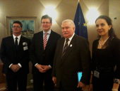 László Andor and Lech Wałęsa - 19/10/2011 - Meeting with Lech Wałęsa, Global Fit for Work Ambassador