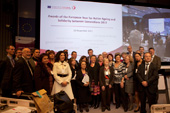 All the finalists together with the jury and the Commissioner - 13/11/2012 - Cérémonie de remise des prix de l'Année européenne 2012