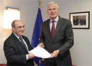 Michel Barnier receives António Vitorino, EU Mediator in the dialogue on private copying levies and President of Notre Europe