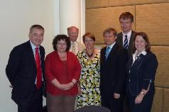 The people in the picture are: (from left to right)  Scottish Minister of Agriculture, Richard Lochhead;  Welsh Minister of Agriculture, Elin Jones;   Minister for Farming, Jim Paice   Secretary of State for Environment (DEFRA), Caroline Spelman;  Commissioner Dacian Cioloş   Secretary of State for Scotland Michael Moore   Northern Irish Minister of Agriculture  Michelle Gildernew