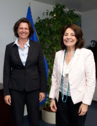 Commissioner Damanaki and German Minister Ilse Aigner