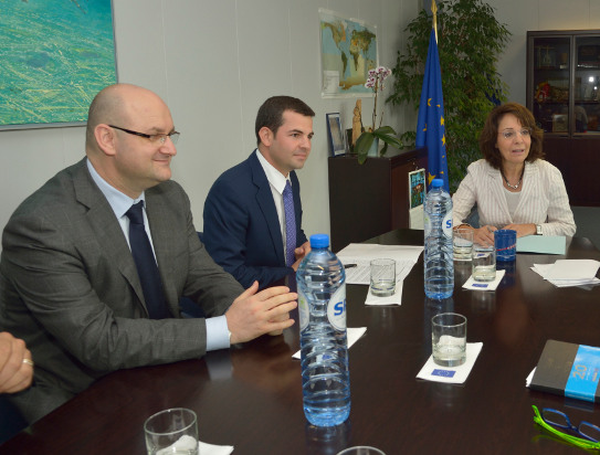 Commissioner Damanaki met with Minister Daniel Constantin, Romanian minister in charge of Agriculture
