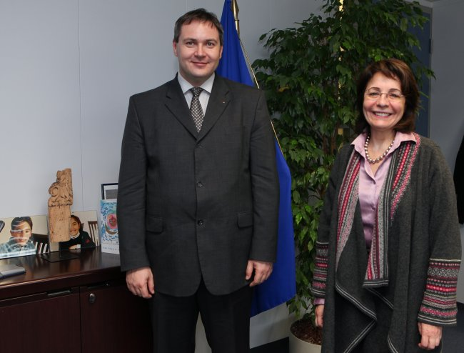 Maria Damanaki receives Dejan Židan, Slovenian Minister for Agriculture, Forestry and Food