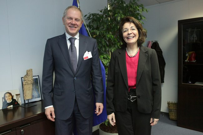 Maria Damanaki receives Andrei Krainy, Head of the Russian Federal Agency for Fisheries
