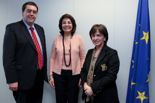 Maria Damanaki receives members of the Northern Ireland Assembly's Agriculture and Rural Development Committee