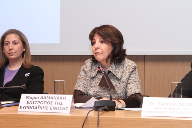 "Commissioner Damanaki speaking at the conference ""2011: do we still need Europe?"""