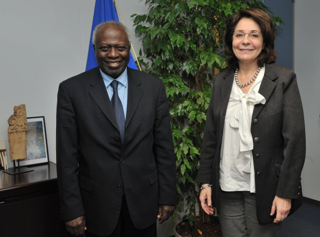 09/03/2011: Maria Damanaki receives Jacques Diouf, Director General of the Food and Agriculture Organization of the United Nations (FAO)