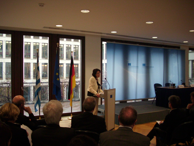 "17/03/2011: Commissioner Maria Damanaki giving the speech ""The new Common Fisheries Policy: making things simpler"" (EC Representation, Berlin)"