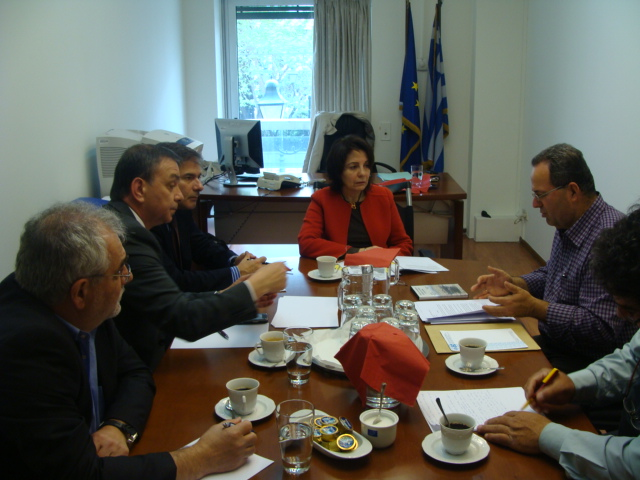 Meeting with representatives of Amvrakikos gulf fishermen and Ambrakikos Friends association (Athens)