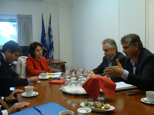 Meeting with representatives of the Federation of the Greek small and medium enterprises for aquaculture (Athens)