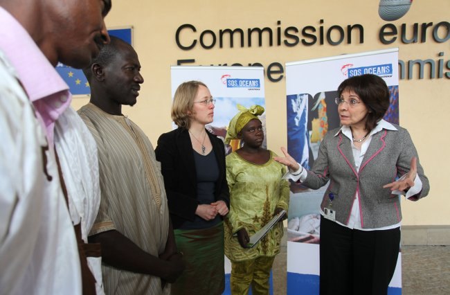 Maria Damanaki receives A delegation of African fishermen and representatives from Greenpeace in Africa