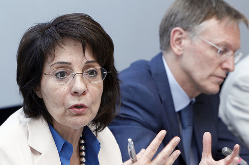 Commissioner Maria Damanaki take part in the Green Week Roundtable on food