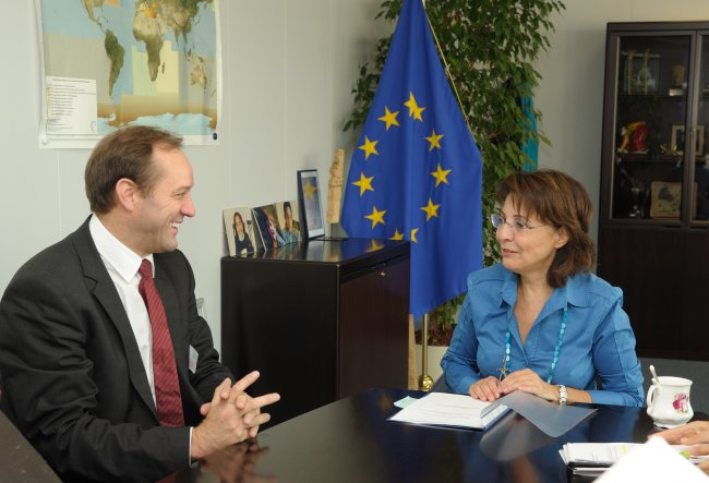 Commissioner Maria Damanaki meets Mr Mieczyslaw Struk, member of the Committee of the Regions