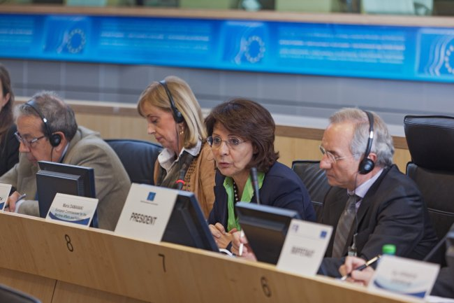 Commissioner Maria Damanaki presents the proposals for the reform of the Common Fisheries Policy at the public hearing organized by the European Economic and Social Committee