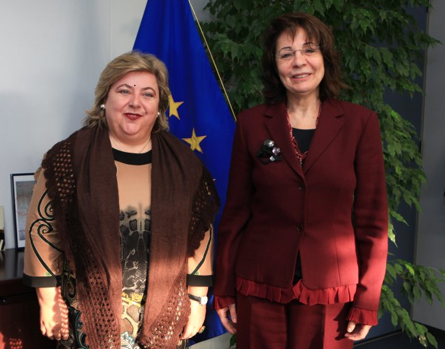 Meeting with Ms. Clara AGUILERA GARCÍA, Andalucian Minister for Agriculture and Fisheries