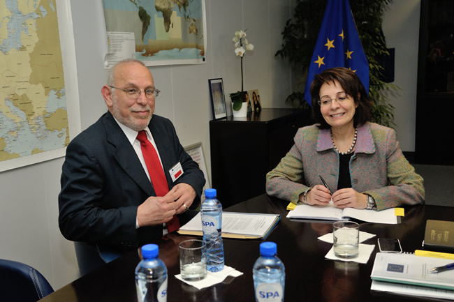 Meeting with Sofoklis Aletraris, Cypriot Minister for Agriculture, Natural Resources and Environment