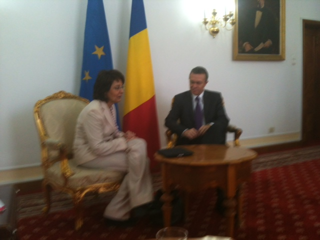 Commissioner Damanaki meets Mr Cristian Diaconescu, Romanian Minister of Foreign Affairs (Bucharest)