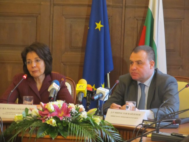 Press conference with Dr. Miroslav Naydenov, Bulgarian Minister of Agriculture and Food