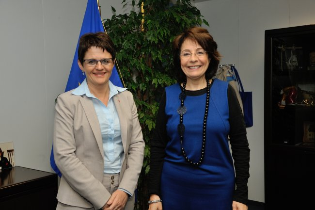 Commissioner Maria Damanaki meets with Ms Lisbeth Berg-Hansen, Norwegian Minister for Fisheries