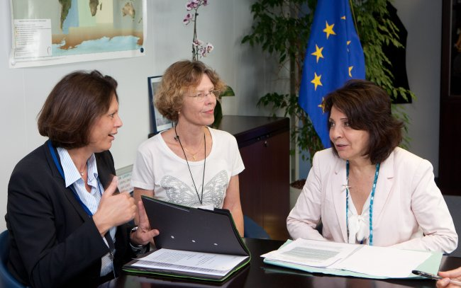 Commissioner Maria Damanaki meets with Ilse Aigner, German Minister for Food, Agriculture and Consumer Protection