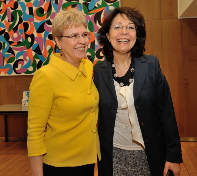 Commissioner Maria Damanaki and Dr Jane Lubchenco, US Under Secretary of Commerce for oceans and atmosphere at the Debate on illegal, unreported and unregulated fishing