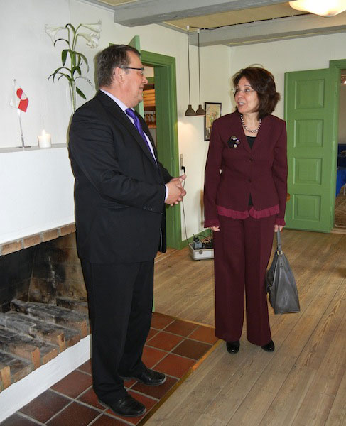 Commissioner Maria Damanaki with Greenland Minister for Fisheries and Hunting Ane Hansen
