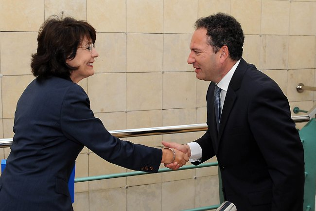 Commissioner Maria Damanaki meets with Mr Mario DE MARCO, Maltese Minister for Tourism, Culture and Environment
