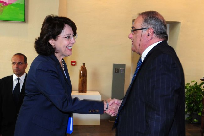 Commissioner Maria Damanaki meets with Mr Austin GATT, Maltese Minister for Infrastructure, Transport and Communications