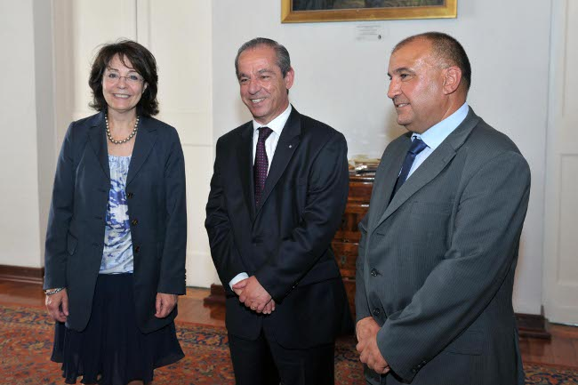 Commissioner Maria Damanaki meets with Prime Minister Lawrence Gonzi