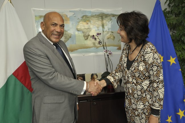 Commissioner Maria Damanaki met with Jean Omer Beriziky, Prime Minister of Madagascar