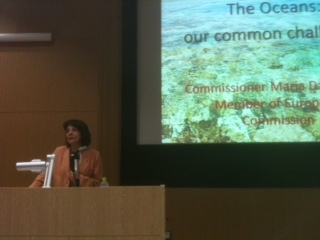 "Commissioner Maria Damanaki delivers her lecture ""The Oceans, our Common Challenge"" at Tokyo University"