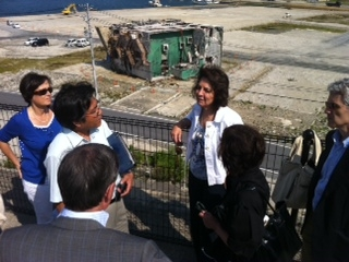 Commissioner Damanaki at Onagawa port affected by the 2011 tsunami