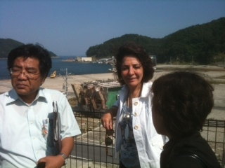 Commissioner Damanaki at Onagawa port, affected by the 2011 tsunami