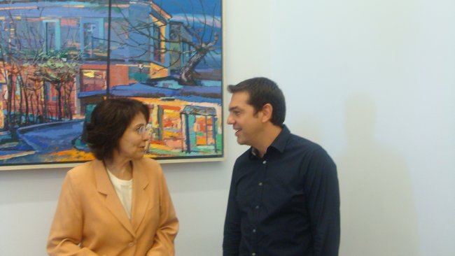 Commissioner Damanaki met with Alexis Tsipras about European issues