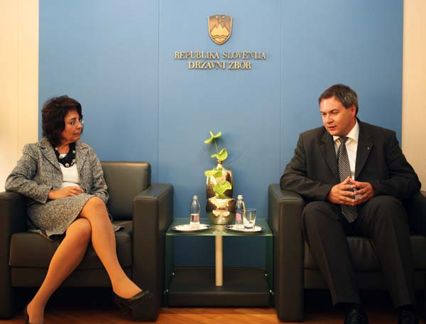 Meeting with the chairman of the parliamentary committee on agriculture, forestry, food and environment, Mr. Dejan Židan