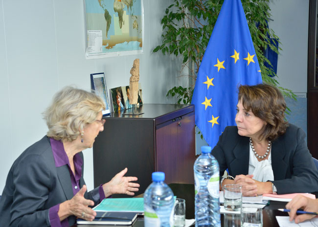 Commissioner Damanaki met with Julia Marton-Lefèvre, Director General of International Union for Conservation of Nature (IUCN)
