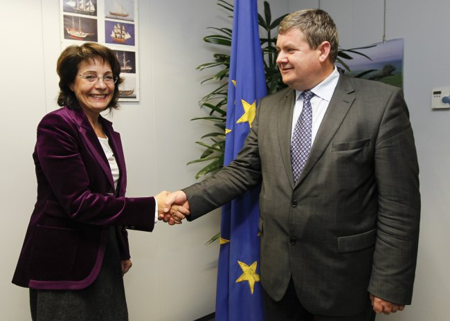 Commissioner Maria Damanaki with Kazimierz Florian Plocke, Polish Secretary of State for Agriculture and Rural Development