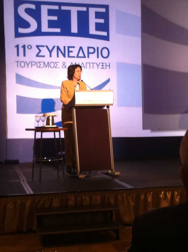 Commissioner Damanaki addresses the annual meeting of the Association of Greek Tourism Enterprises (SETE) in Athens