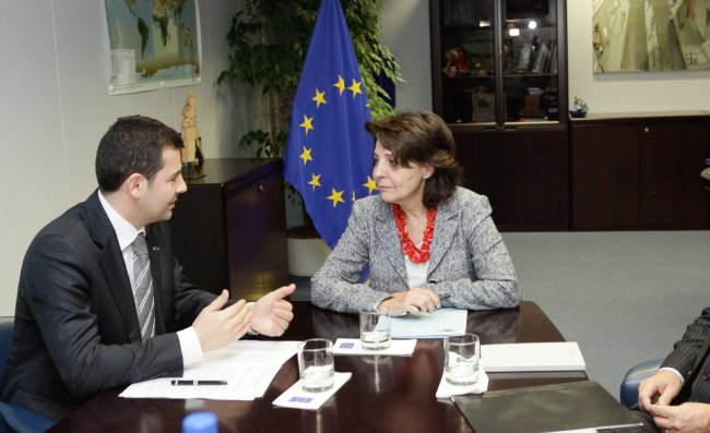 Commissioner Maria Damanaki meets Mr Daniel Constantin, Romanian Minister for Agriculture and Rural Development