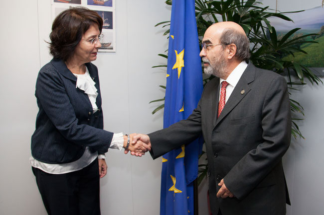 Maria Damanaki receives José Graziano da Silva, Director General of the Food and Agriculture Organization (FAO) of the United Nations