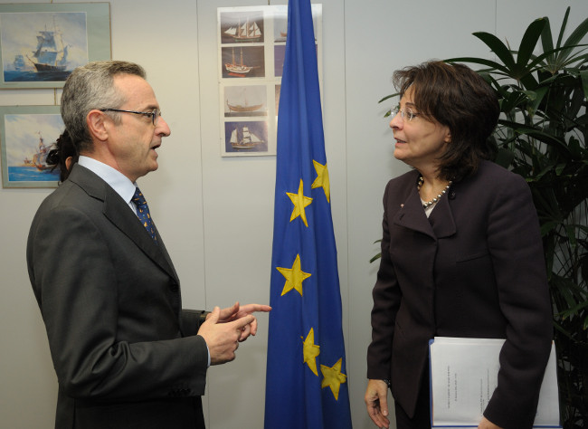 Commissioner Maria Damanaki meets Mario Catania, Italian Minister for Agriculture Policy, Food and Forestry