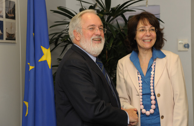 Commissioner Maria Damanaki meets Miguel ARIAS CAÑETE, Spanish Minister for Agriculture, Food and Environment