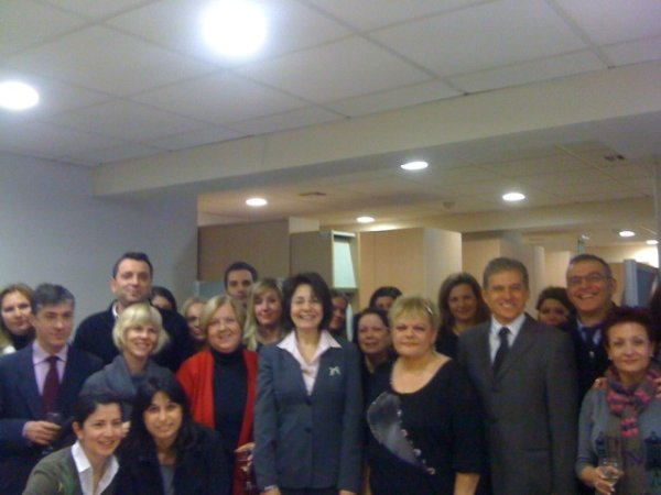 Commissioner Maria Damanaki celebrates new year with the staff of the European Commission representation office in Athens