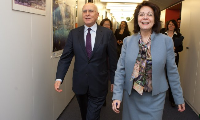 Commissioner Maria Damanaki and Stavros Dimas, Greek Minister for Foreign Affairs