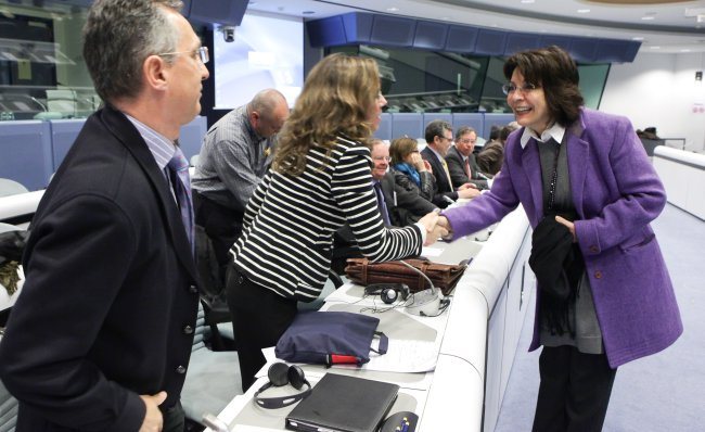 Commissioner Maria Damanaki meets representatives of the Spanish fishing industry