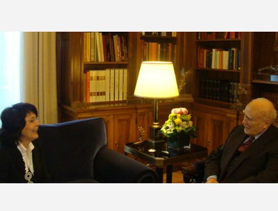 Commissioner Maria Damanaki met with Mr Karolos PAPOULIAS, President of Hellenic Republic in Athens
