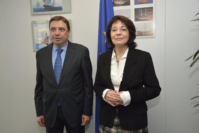 Commissioner Maria Damanaki met with Mr Luis Planas Puchades, Minister for Agriculture, Fisheries and Environment of the Autonomous Government of Andalucía