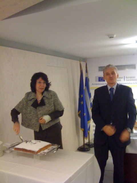 Commissioner Damanaki took part in the New Year's celebration at the European Commission Representation office in Athens